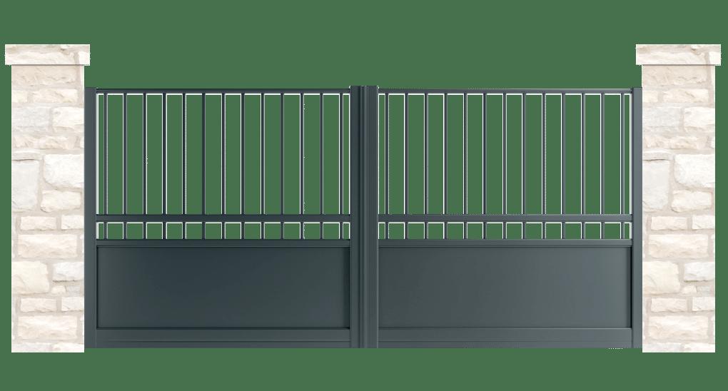 portail aluminium contemporain tourelle