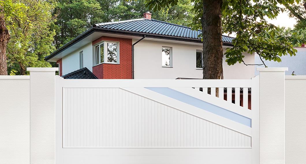 Portail PVC coulissant 1 vantail modèle Violon