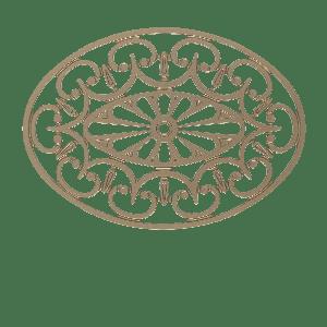 Rosace Ariège portail alu tradition