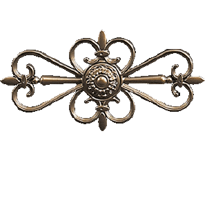 Rosace Cévènnes portail alu tradition