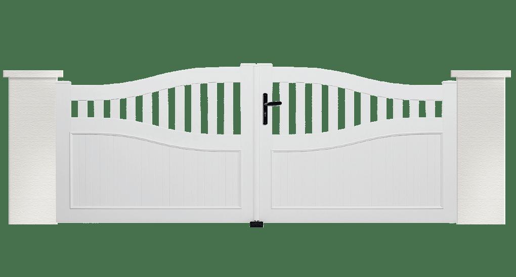Portail PVC Céphée, fabriqué sur mesure et installé par Charuel