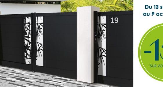 Promo portails Alu et PVC fabriqué sur mesure en France